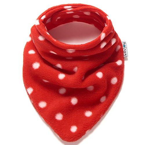 Lovjoy Neonato Bambino sciarpa di lana invernale (Polka bianco su rosso) d7054862da1b