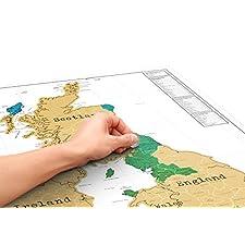 Luckies UK Scratch Map
