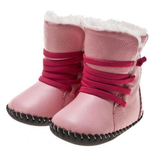 a7ded9096edac Little Blue Lamb - Chaussures premiers pas cuir souple fille