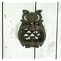 east2eden Retro Vintage Owl Design Cast Iron Ornate Door Gate Knocker Decor