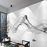 HONGYAUNZHANG Abstrakte Graue Linien Benutzerdefinierte Fototapete 3D Stereoskopische Wandbild Wohnzimmer Schlafzimmer Sofa Hintergrund Wandmalereien,200Cm (H) X 280Cm (W)