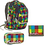 satch by Ergobag Beach Leach 3-teiliges Set Rucksack, Schlamperbox & Geldbeutel