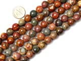 4mm Round Picasso Jasper Beads Strand 15 Inch Jewelry Making Beads