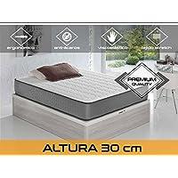 Relaxing - Confort Elax 30 5.0  -  Colchón viscoelástico y grafeno, Blanco/Gris, 135 x 190 x 30 cm
