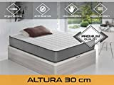 Dormi Premium Elax 30 - Colchón Viscoelástico, 140 x 190 x 30 cm, Algodón/Poliuretano, Blanco/Gris, Matrimonio