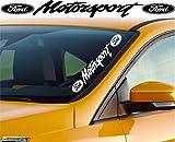 Ford Motorsport 55 cm Aufkleber,Sticker von myrockshirt ®, Autoaufkleber,Auto,Lack,Scheibe, Tuning , Racing aus Hochleistungsfolie ohne Hintergrund Profi-Qualität viele Farben zur Auswahl MADE IN GERMANY