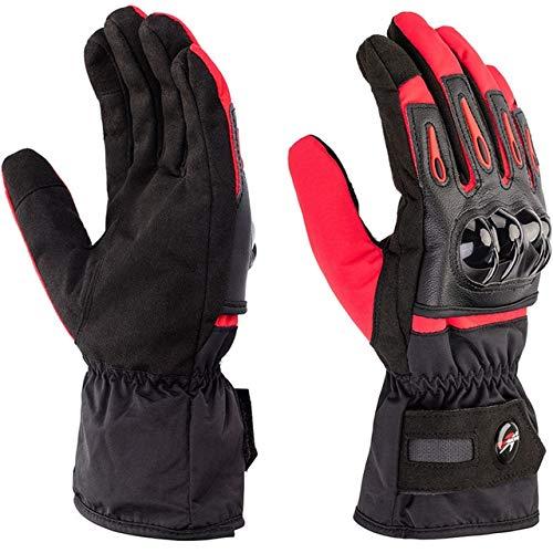 Bruce Dillon Guanti moto invernali guanti touch screen guanti impermeabili moto uomo e donna in sella a guanti protettivi - A4 XL