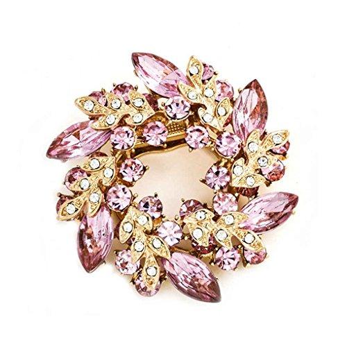 Bobury Kristalle Blume Seidenschal Broschen Frauen Pins Clip Schnalle Strass Broche Geschenke