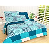 Generic Cotton Reversible Doublebed Dohar/Quilt Cover With Color Fasting And Zip, 90x100 (Blue, DAOPD500)