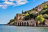 Alanya City Türkei Stadt XXL Wandbild Kunstdruck Foto