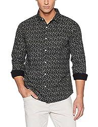 United Colors of Benetton Mens Casual Shirt (8903975465770_17A5DR02U008I905M_Black)