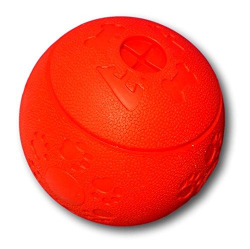wepo giocattolo per cani L Robuster Labyrinth Ball in caucciù naturale (Gomma naturale) con aperture E cavità per snack L per grandi e piccoli cani L intelligenza giocattolo L Snack palla da masticare
