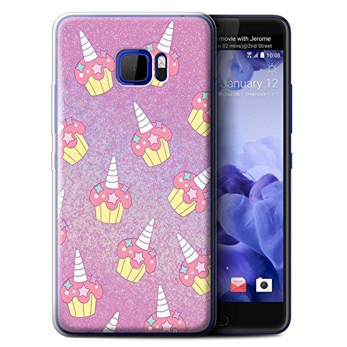 lle/Case für HTC U Ultra/Ocean Note/Rosa Cupcake/Kuchen Muster/Einhorn/Unicorn Kollektion ()
