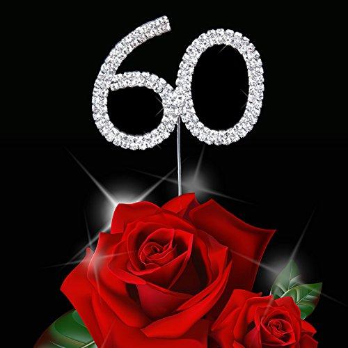 Jian YA NA Silber Strass Hochzeit Kuchen-Deckel, Kuchen-Deckel für Jahrestag/Geburtstag / Weihnachten/Partei 60