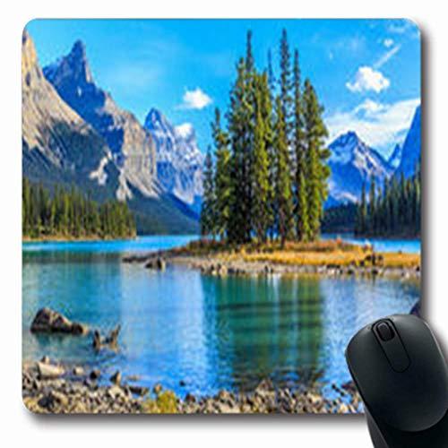 Luancrop Mousepads Im Freien Spirit Island Maligne Lake Jasper Landschaft National Nature Canada Parks Im Freien Natürliche Längliche Gaming Mouse Pad rutschfeste Gummimatte -