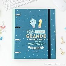 CARPETA CON ANILLAS - CADA SUEÑO GRANDE EMPIEZA POR UNA IDEA PEQUEÑA