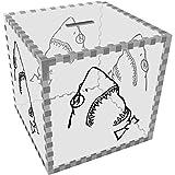 Azeeda Grand 'Geek Requin' Tirelire Transparente (MB00023584)