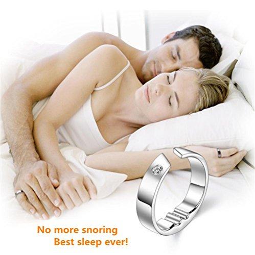 MEYLEE Schnarchstopper Anti-Schnarchring Schnarchlösung Akupressurring am kleinen Finger Gut für die Gesundheit , l