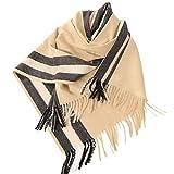 TianWlio Frauen Schals Mode Quasten Schal gestreift Nachahmung Kaschmir Rechteck Schal Klimaanlage Schal