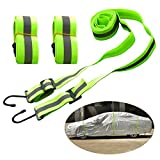 Kayme Gust cinghie auto copertura Wind Protector, 3pezzi corda elastica Wind kit per auto SUV Jeep Hatchback. Misura universale