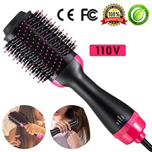 BiBOSS Blow Dryer Brush One Step 4-in-1 Hair Dryer Brush Ionic Hot Air Brush Hair Curling Iron Hair Straightener Salon Hair Tools Hair Volumizer (In 4 1 Curling Iron)