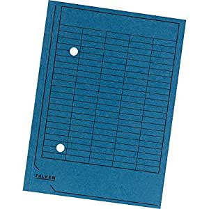 Falken 80004179 Umlaufmappen, Manilakarton, 250g/qm, blau