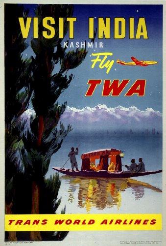 vintage-travel-india-a-kashmir-con-twa-compagnie-aeree-250-gsm-lucido-art-poster-a3-di-riproduzione