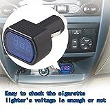 Ndier - Voltmetro per auto, presa accendisigari, tester per batterie, LED digitale, 12 V/24 V