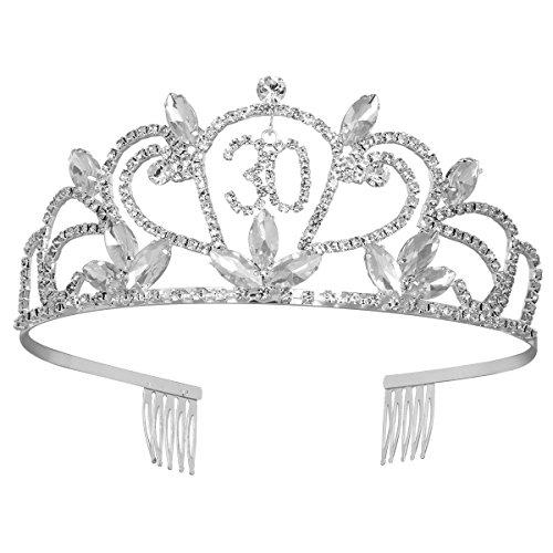 Frcolor corona 30cumpleaños Tiara diadema Princesa