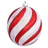 VICKERMAN 62.618,6–10,2cm Candy Cane Spirale Ball Schmuck Weihnachtsbaum (n100730)