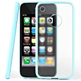 OneFlow Protective cover for iPhone 3G / 3GS silicone cover case made from 1.5 mm TPU | Cover accessory to protect your mobile phone | See-through transparent bumper case in SKY-BLUE