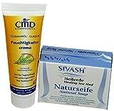Pflegeset für unreine, fettige Haut: SIVASH-Heilerde-Naturseife 100g + Teebaumöl Feuchtigkeitscreme 50ml