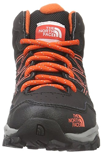 The North Face Jr Hedgehog Hiker Mid Wp, Sneakers basses mixte enfant Multicolore (Tnf Black/mandarin Red)