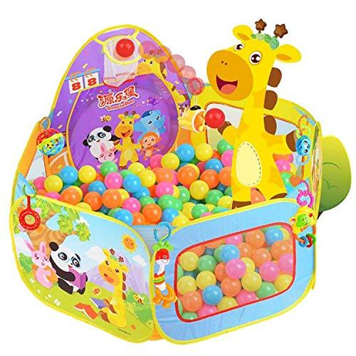 Tienda de juego Piscina Para Niños, Piscina Para niños Piscina Para bebés Tienda para piscina plegable emergente Casa de juegos al aire libre para interiores con bolsa cremallera (Bolas no incluidas)