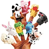 #3: Skylofts Cute Animal Finger Puppet, Multi Color (Pack of 10)