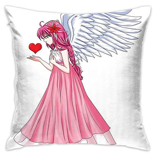 Funda Nordica One Direction El Corte Ingles.Anime King Size Throw Pillow Cushion Cover Fairytale Character Angel In A Pink Dress Holding A Heart Romantic Valentines Day Decorative Square Accent