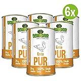 DOGREFORM Ente PUR 6 x 410 g Nassfutter auch für empfindliche bis sehr empfindliche Hunde getreidefrei glutenfrei geeignet zum BARFen