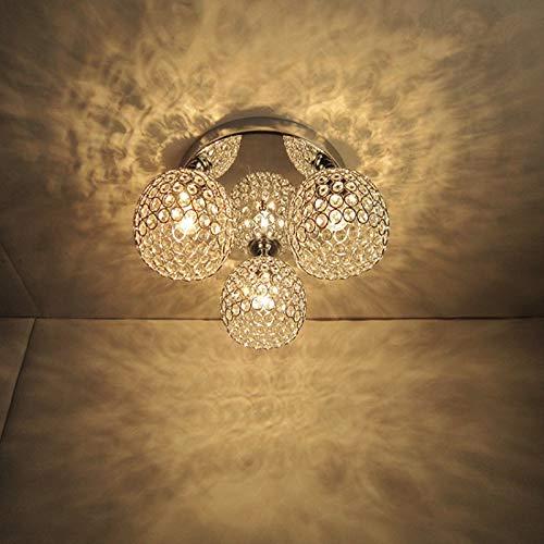 Moderne 3 Lichter Chrome Finish Restaurant Led Deckenleuchten Lampe Kreative Persönlichkeit Eisen Cafe Bar Gang Kristall Deckenleuchten -