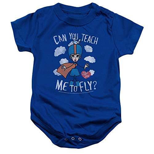 I Love Lucy - - Toddler Fly Onesie, 6 Months, Royal Blue