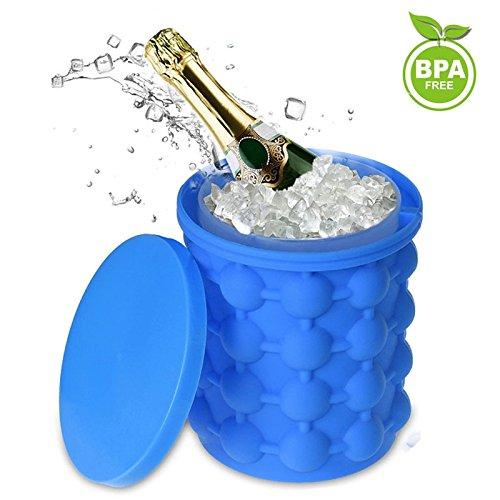 Nicepet Eisbehälter, Eiswürfelform Silikon,EiswüRfel Bequee Eiswürfelbereiter, Ice Cube Maker für Bier Whisky Grillparty, BBQ