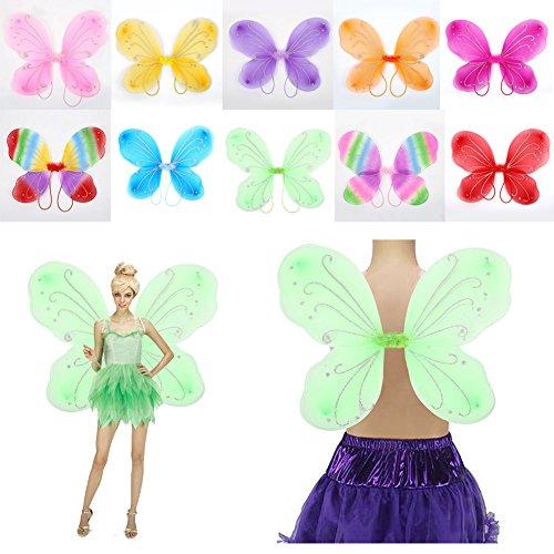 MingXiao Dress Up Schmetterlingsflügel Schöne 42 * 31 cm 10 Farbe Liefert Kostüm Schmetterling verkleiden Sich Tinker Bell Halloween ()