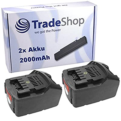 2x Hochleistungs Li-Ion Akku 36V / 2000mAh ersetzt Metabo 6.25453, 6.00795.00, 6.00795.68, 6.02177.86 für Metabo AHS 36 BHA 36 LTX KHA 36 LTX SDS+