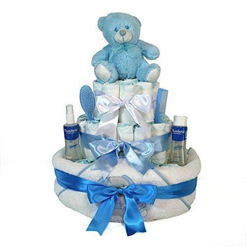 Tarta pañales niño Dodot - Baño Optima azul - Mil