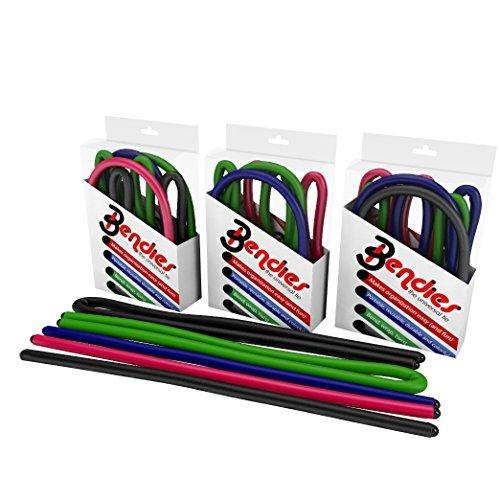 Bendies- The Universal Tie! Lot de 5 paires de boucles de cou pour intérieur et extérieur 3-17 pouces by Renegade
