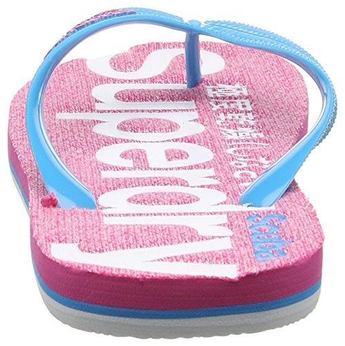 Superdry Scuba Marl, Infradito Donna Multicolore (Fluro Pink Grit/Fluro Blue/Fluro Pink)