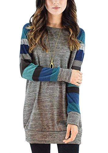 Kinikiss casual camicia autunno maglietta invernale felpa oversize sportiva camicetta maglia maniche lunghe t shirt di diverse dimensioni e colore