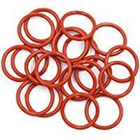 X AUTOHAUX 50pcs Red Silicone O-Ring Sealing Gasket Washer for Car 16mm X 2.4mm