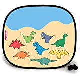 123t ANI-MATES DINO PARTY PLAIN Baby/Child Vehicle Sunshade x 1 birthday funny gift for him for her