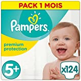 Pampers New Baby Size 5+ (Micro), 1-2.5 kg, (2 x 62 Nappies)