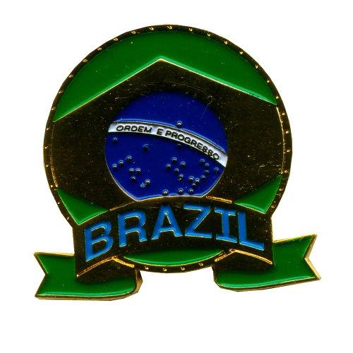 Brasilien Brasil Brasília Fahne Emblem Metall Button Nadel Pin Anstecker 0425